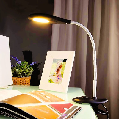 Desk with a table lamp